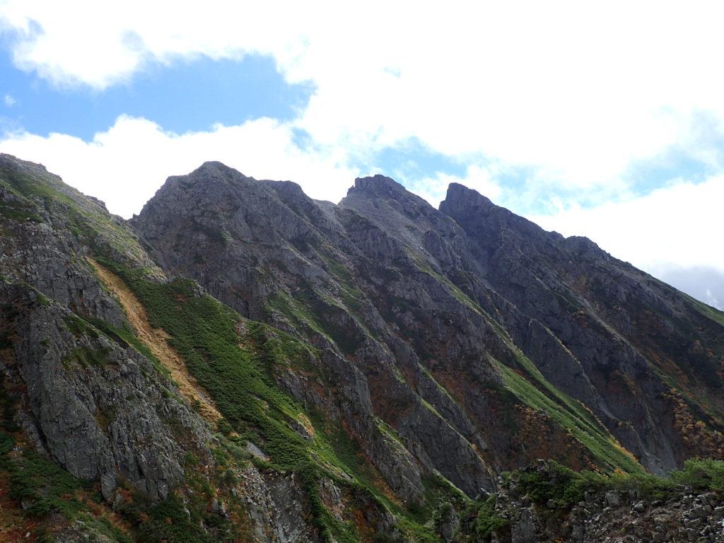 前穂高岳から見る明神岳