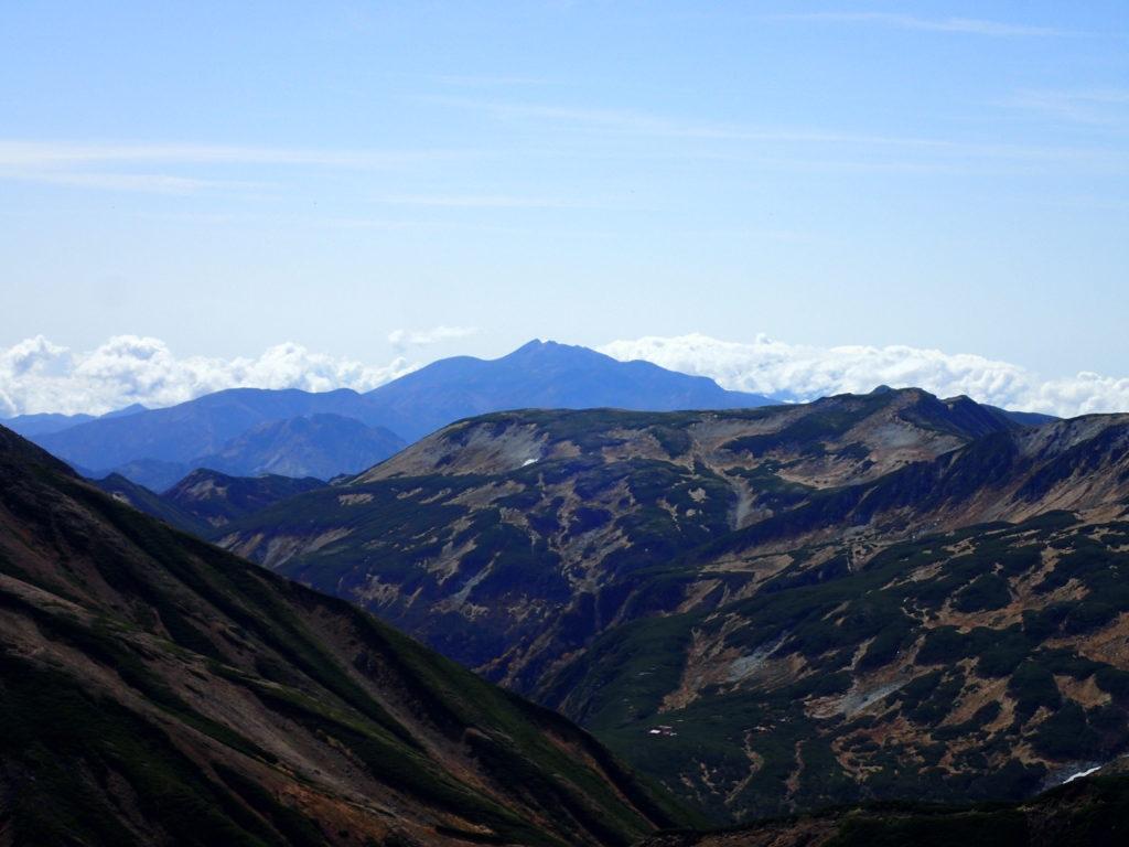 水晶岳付近から見る乗鞍岳
