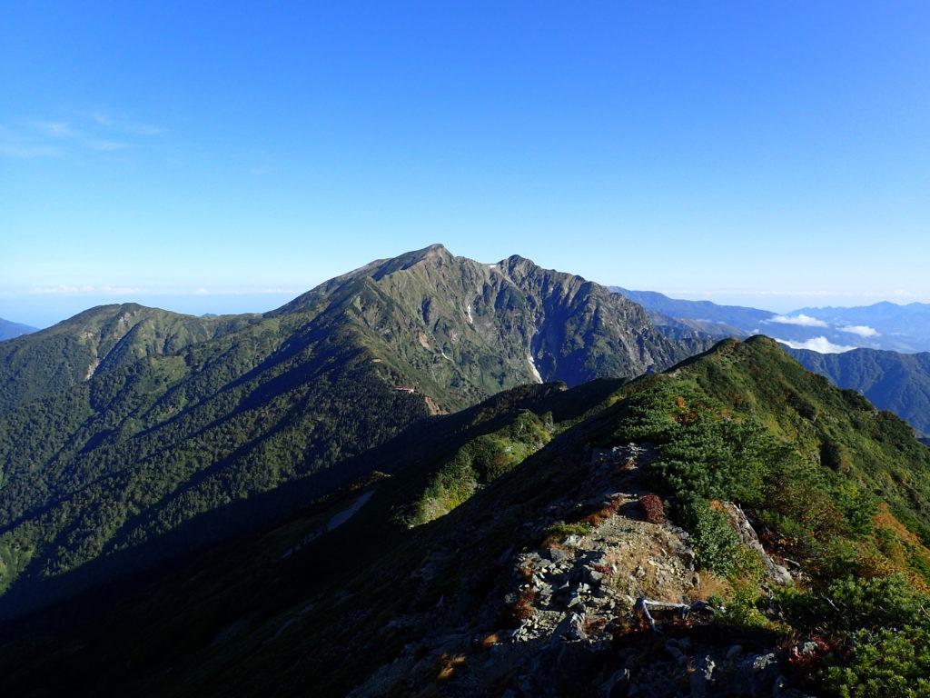 爺ヶ岳から見る鹿島槍ヶ岳