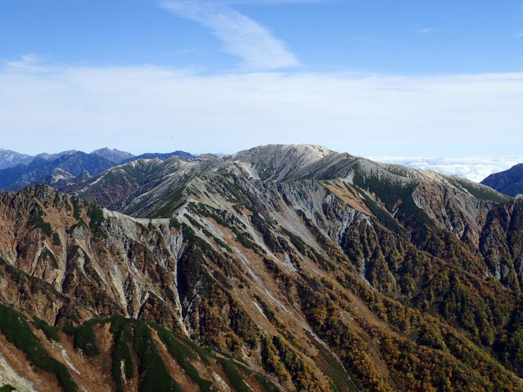 鷲羽岳から見る野口五郎岳