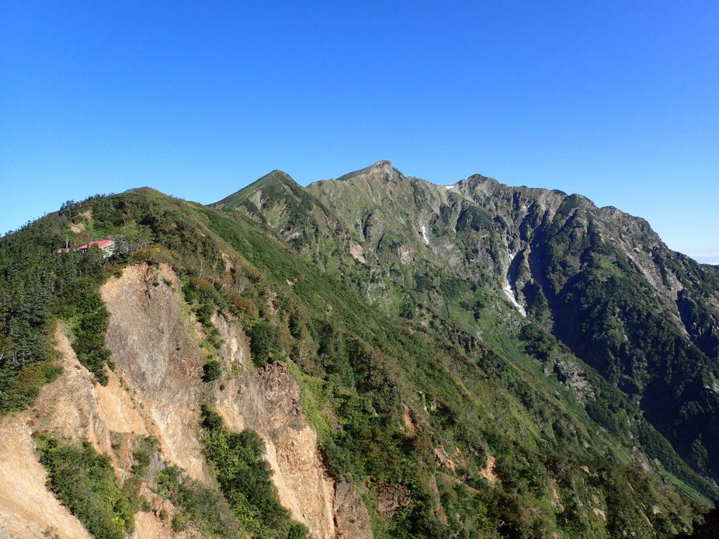 冷池山荘と布引岳と鹿島槍ヶ岳