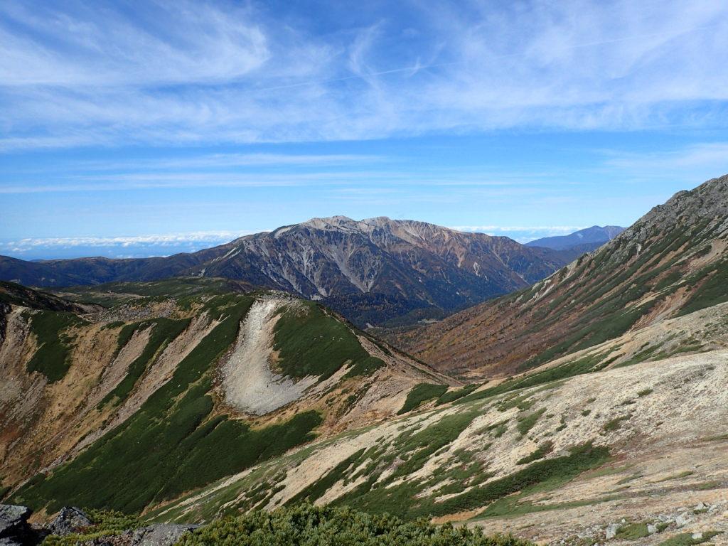 ワリモ岳付近から見た薬師岳