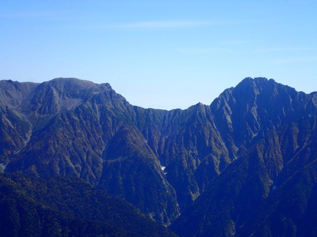 笠ヶ岳から見る大キレット
