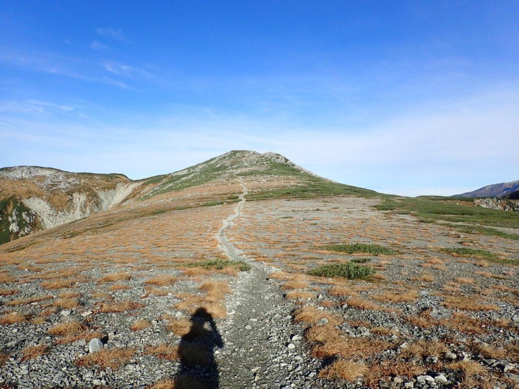 双六岳山頂へ続く登山道