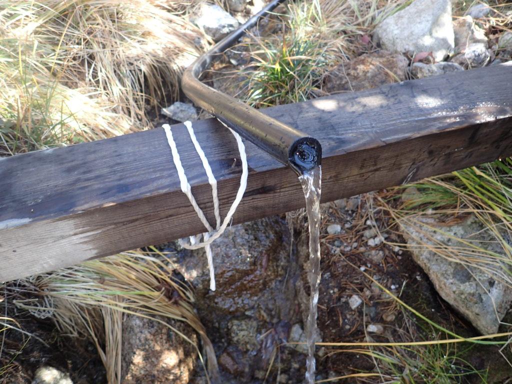 三俣山荘テント場の水場
