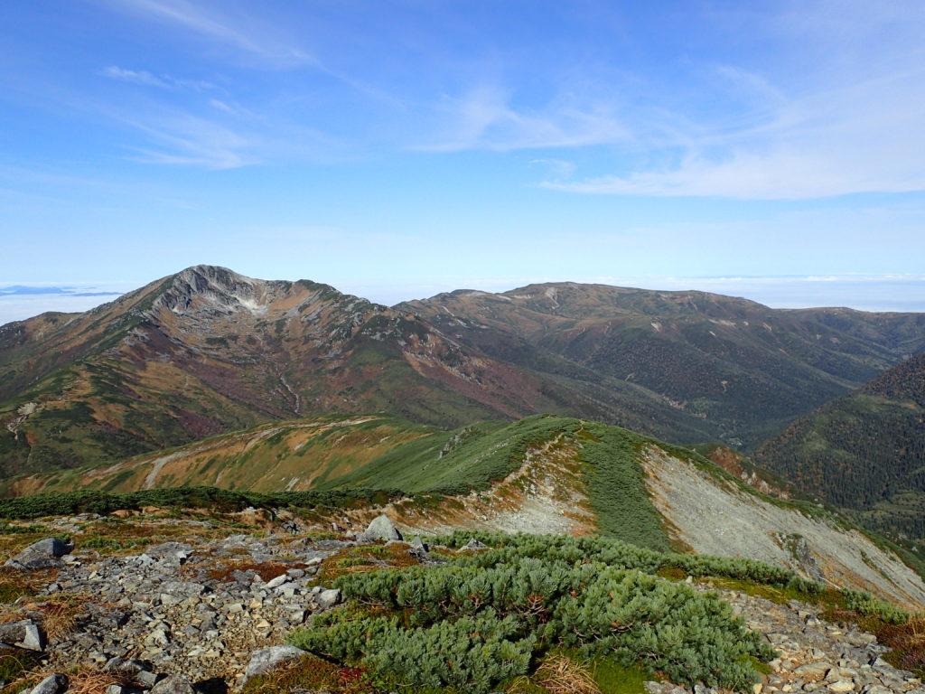 三俣蓮華岳方向から見る黒部五郎岳