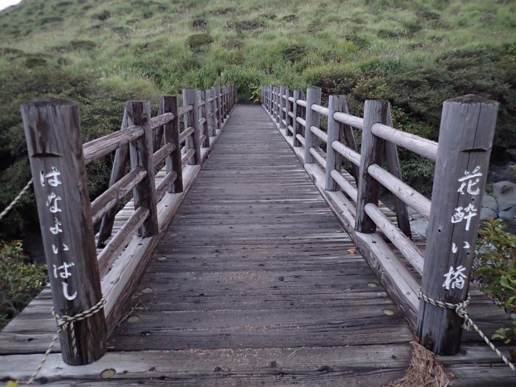 阿蘇山の仙酔尾根登山口の花酔い橋