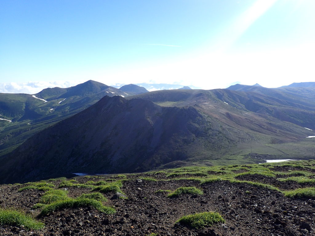 旭岳からみる熊ヶ岳