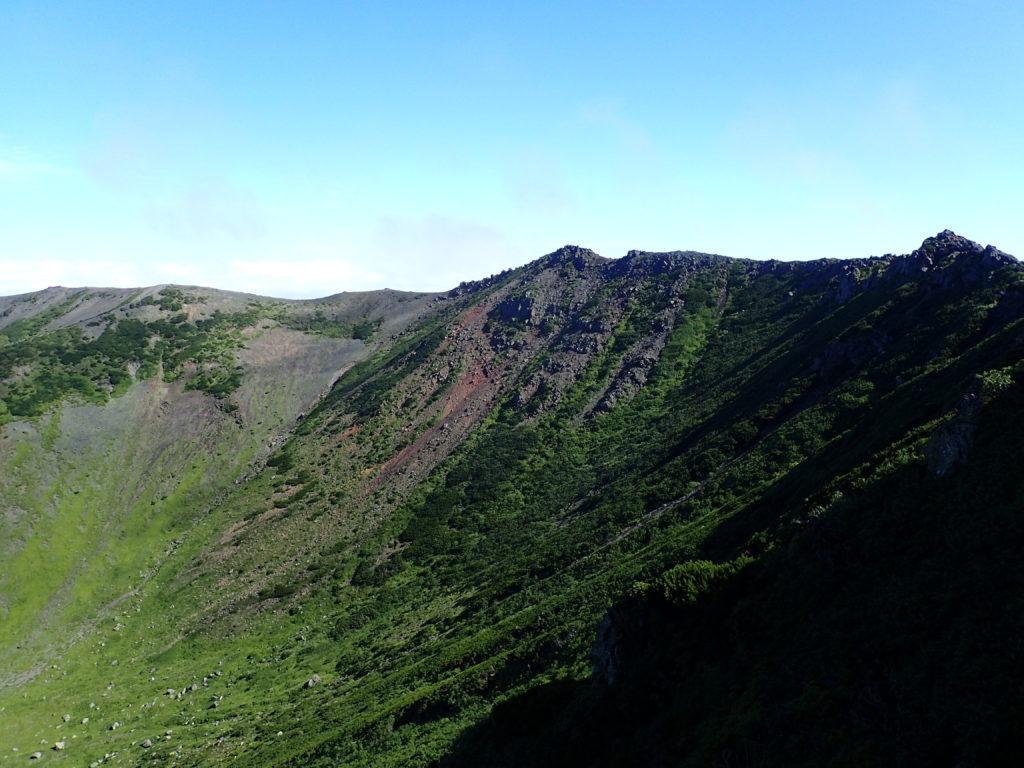 羊蹄山の稜線