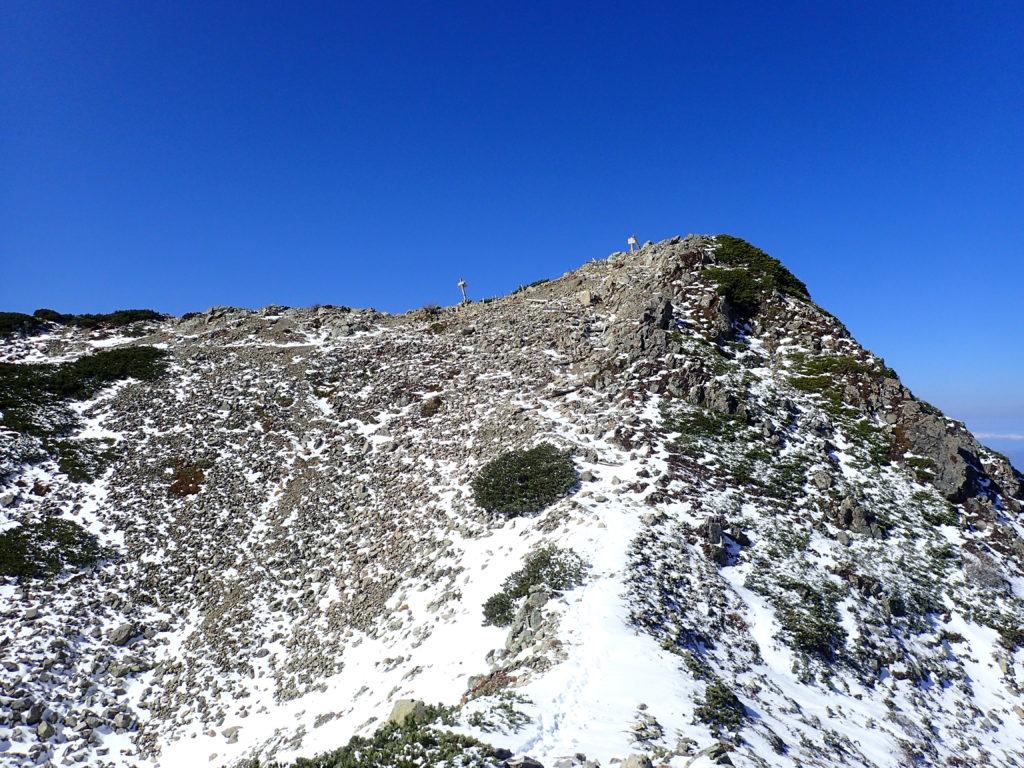 仙丈ヶ岳山頂