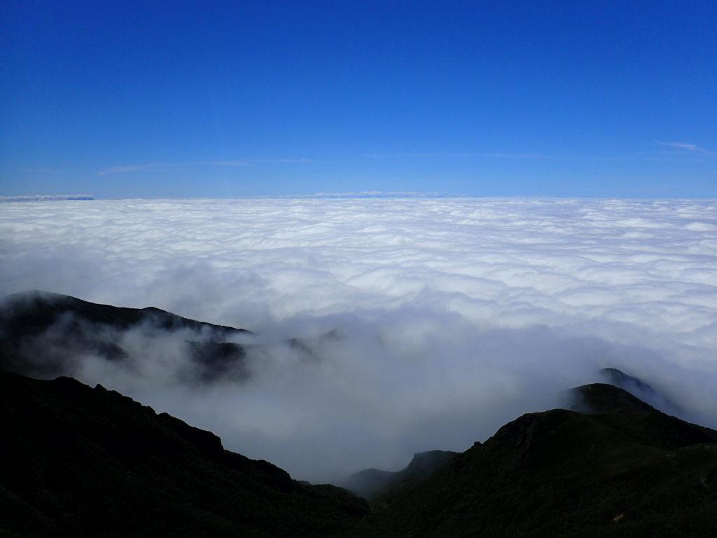斜里岳山頂から見る雲海