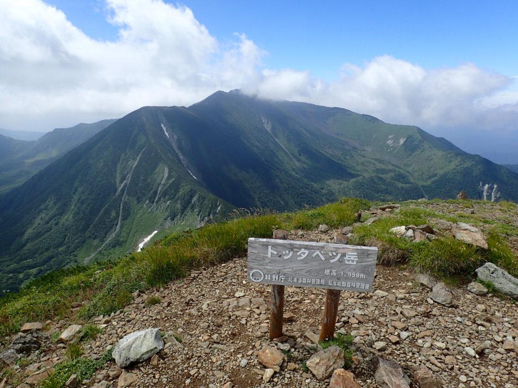 戸蔦別岳山頂から見る幌尻岳
