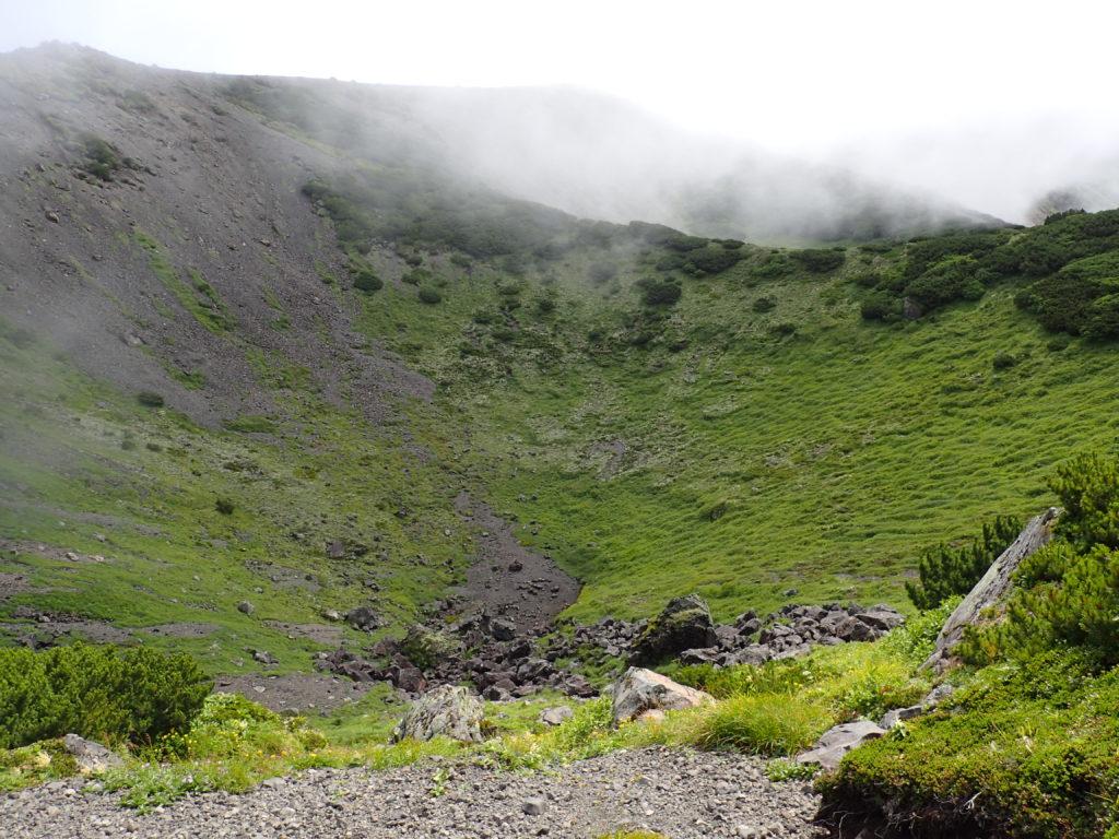 羊蹄山の火口
