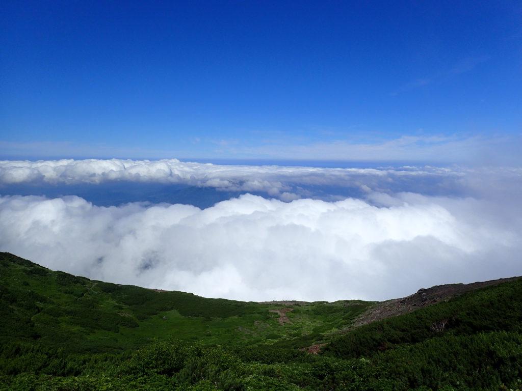羊蹄山から見た雲海