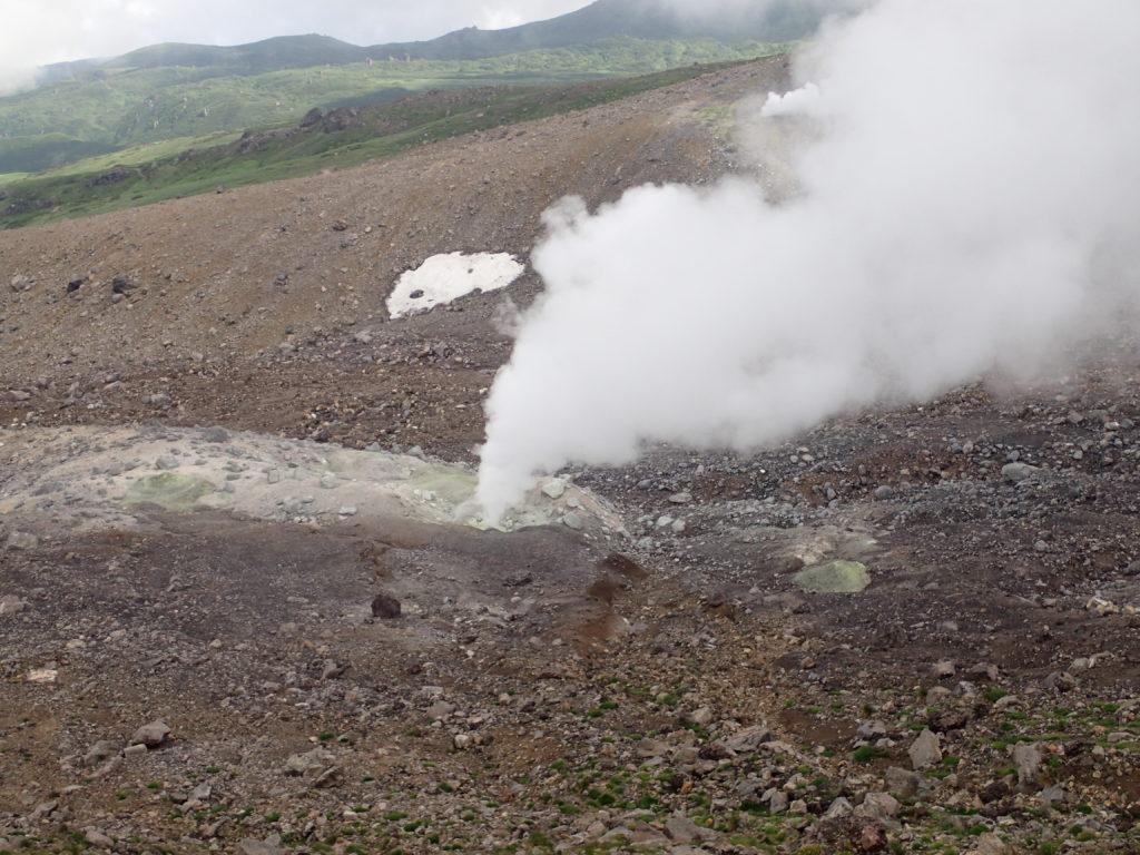旭岳の噴気孔