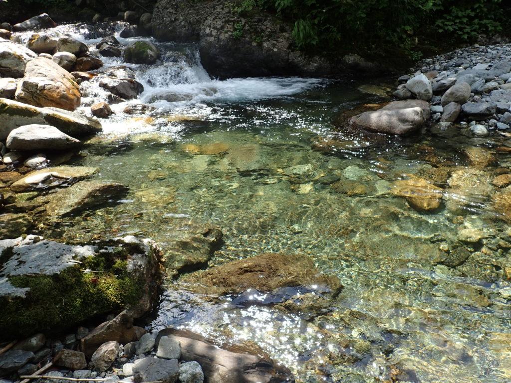 幌尻岳の振内ルートの糠平川