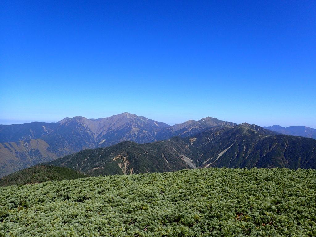イザルヶ岳から見る聖岳