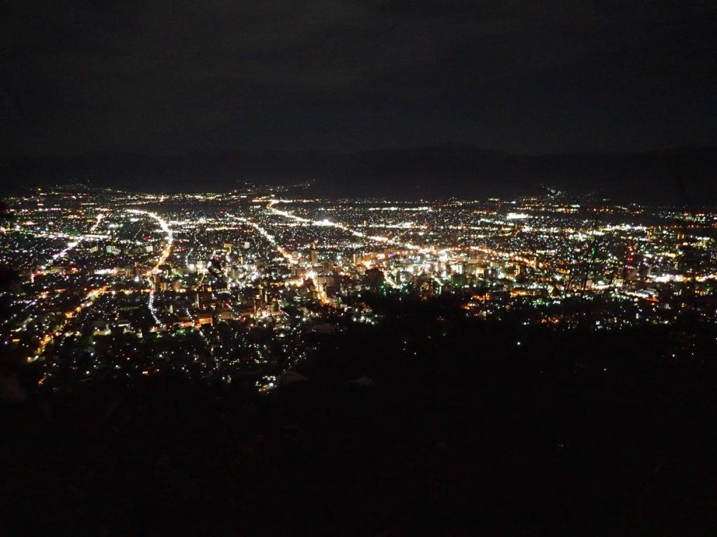 長野県長野市の旭山展望台からの夜景
