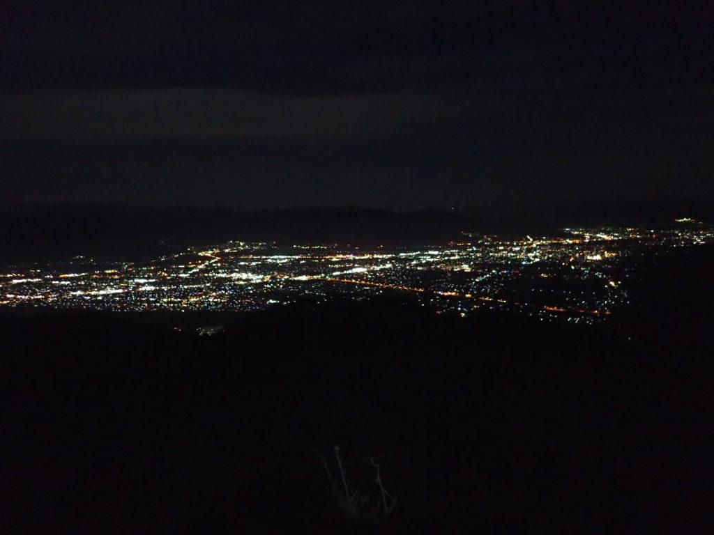 長野県長野市の茶臼山からの夜景