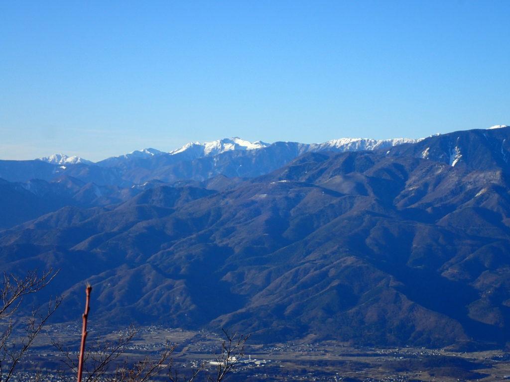 茅ヶ岳から見る南アルプス