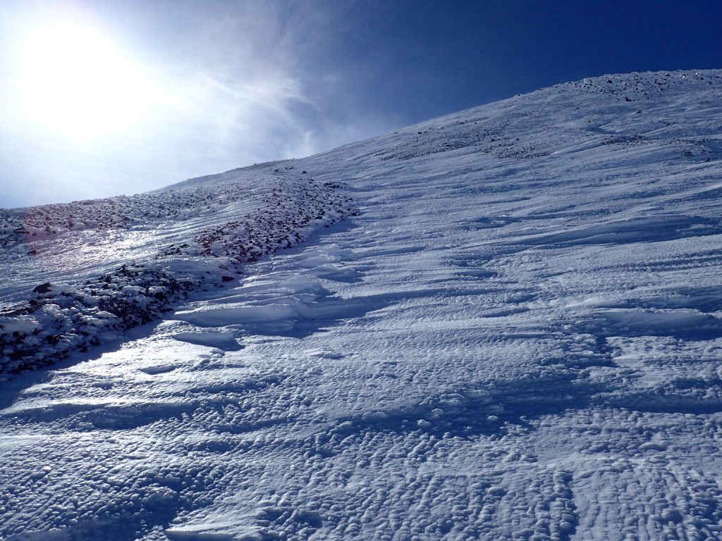 厳冬期の乗鞍岳
