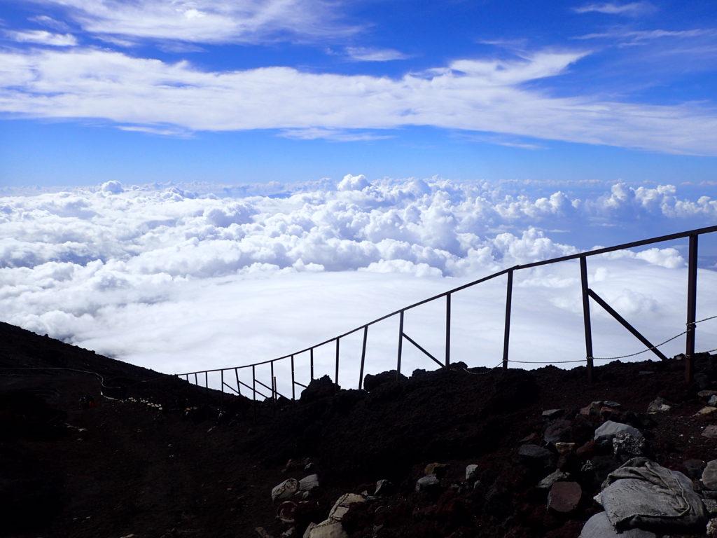 富士山から眺めた雲海