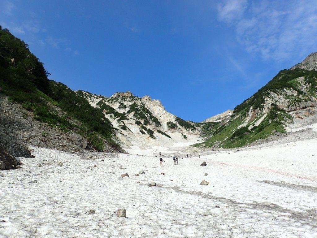 モンベルのチェーンスパイクで登下山した白馬大雪渓