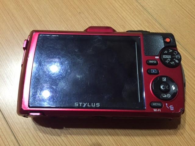 オリンパスのデジタルカメラ(TG-4)の液晶画面