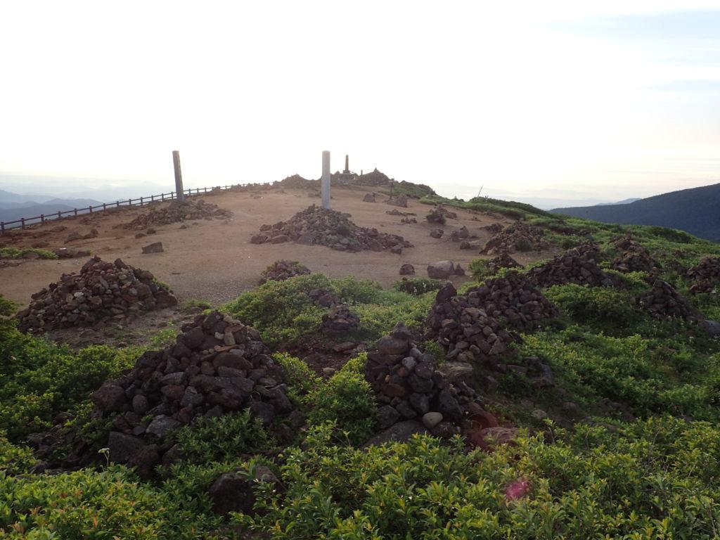 蔵王山の刈田岳山頂