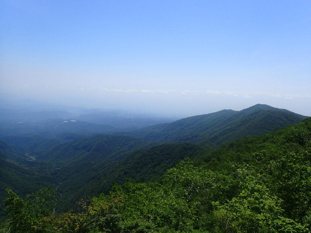 赤城山の駒ケ岳からの展望