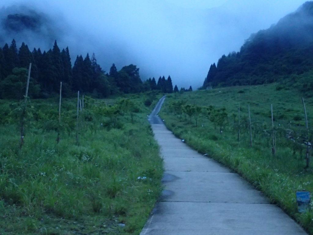 荒島岳の勝原スキー場登山口