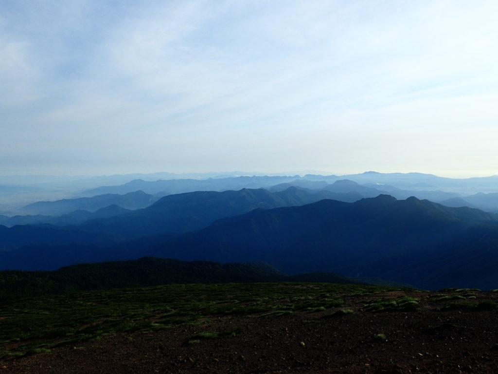 蔵王山稜線からの景色