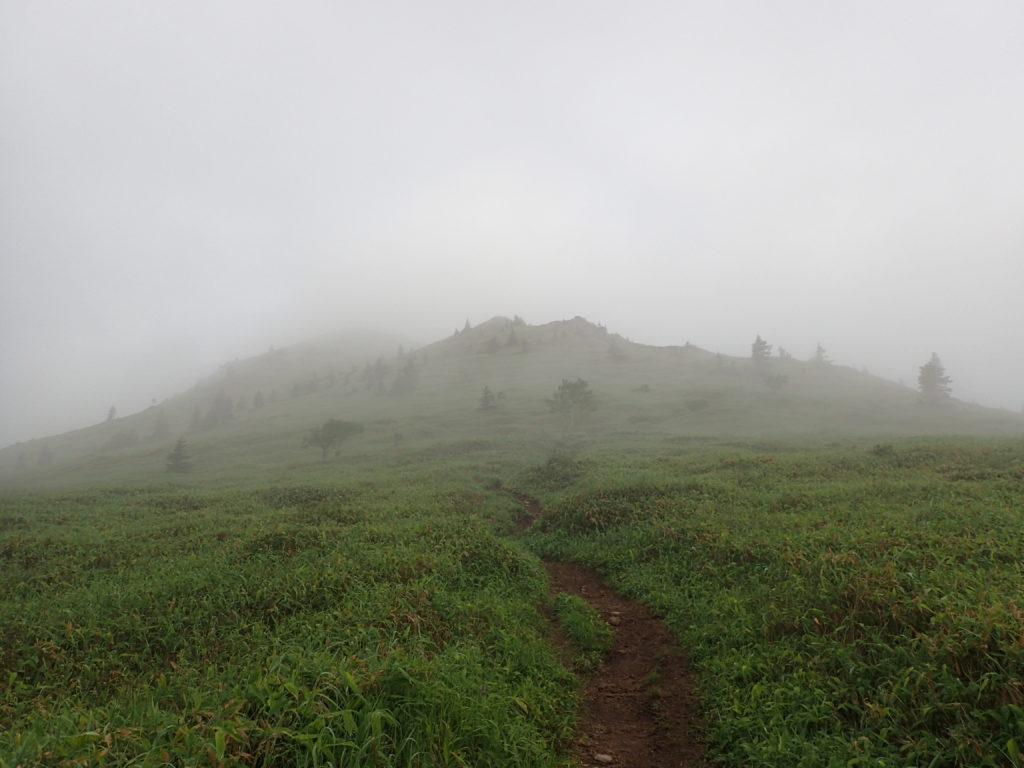 根子岳から四阿山に向かう途中に振り返った根子岳