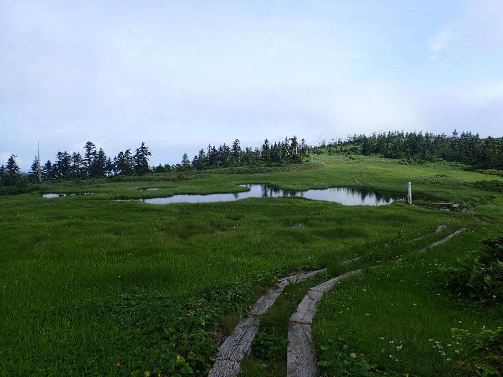 木道と中門岳