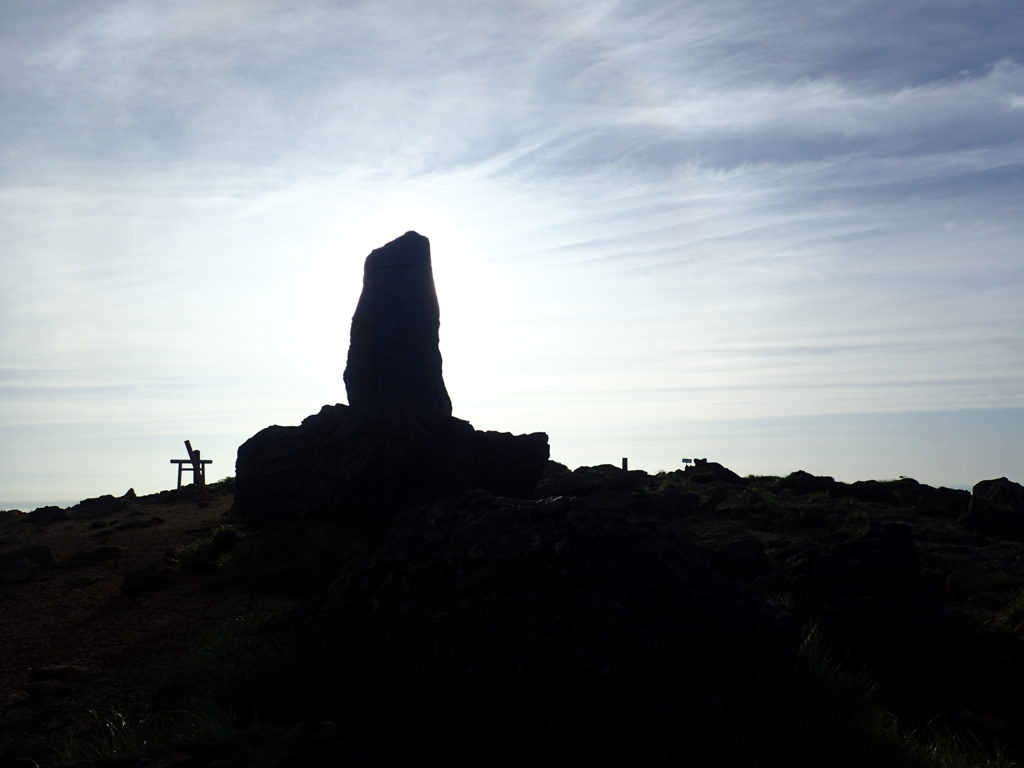 蔵王山の熊野岳山頂にある斉藤茂吉の歌碑