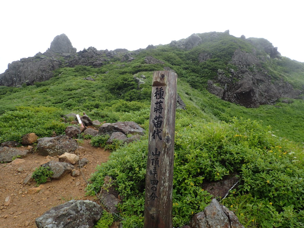 岩木山の種蒔苗代の道標