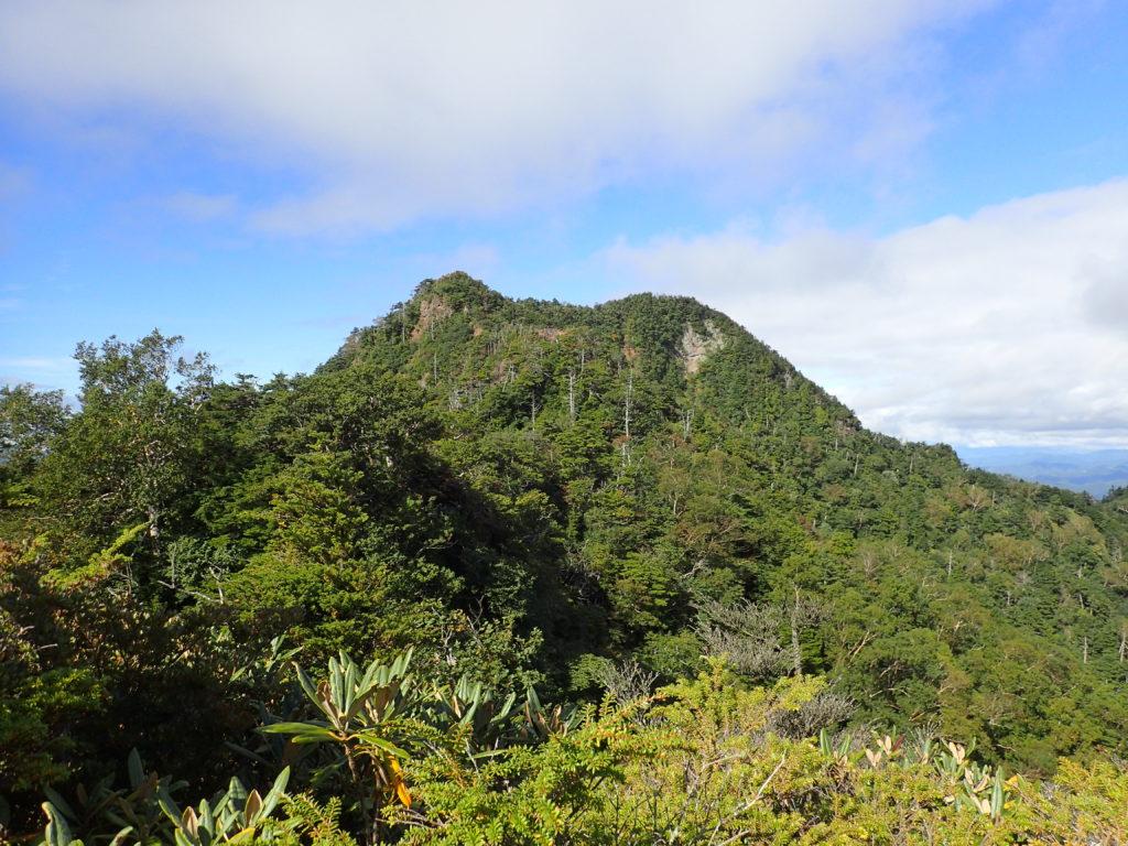 皇海山クラシックルートの白山から見る鋸山
