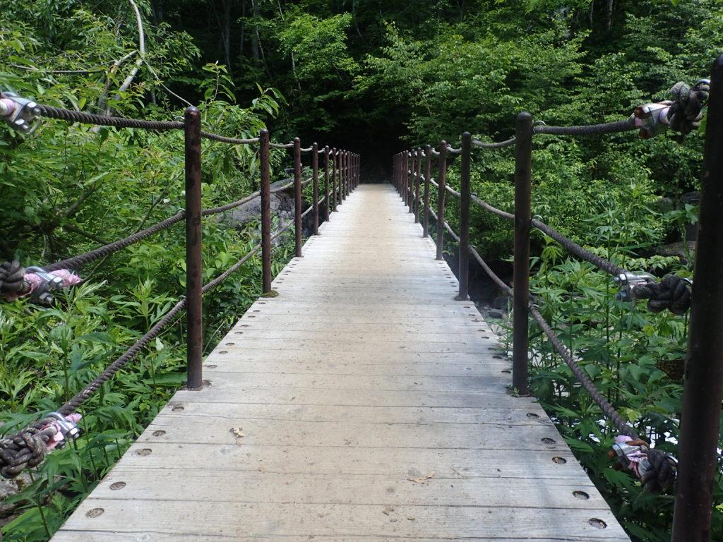 火打山登山道にある黒沢橋