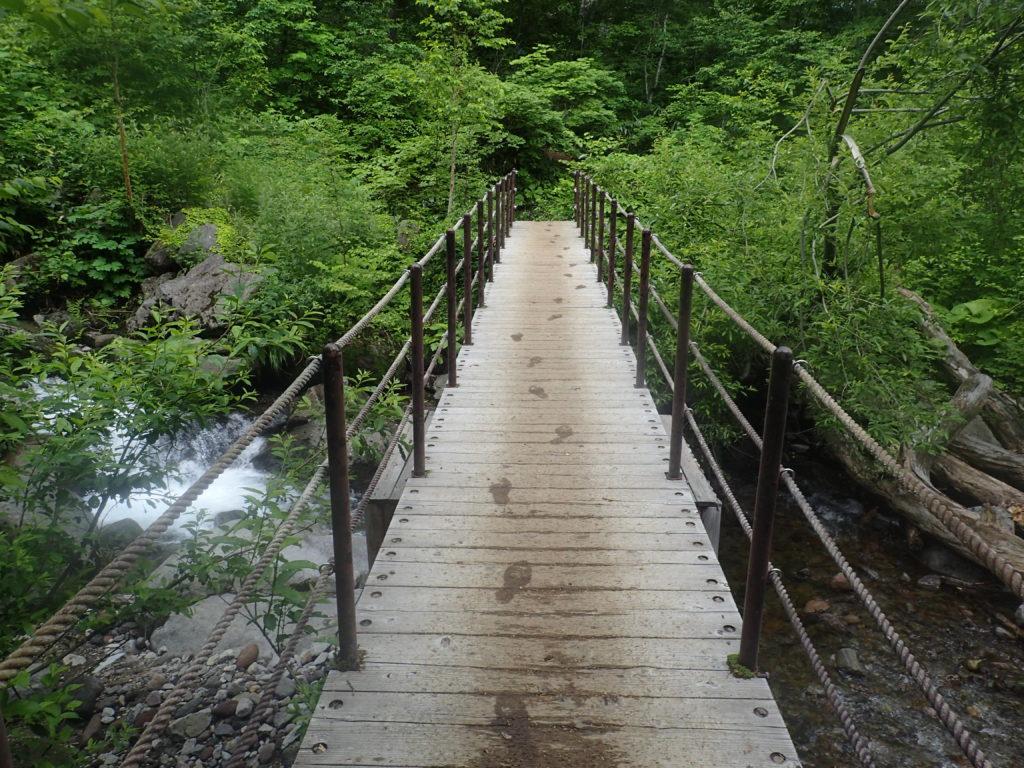 火打山・妙高山登山道にある黒沢橋