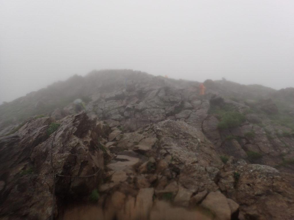 雨の早池峰山登山道(小田越コース)
