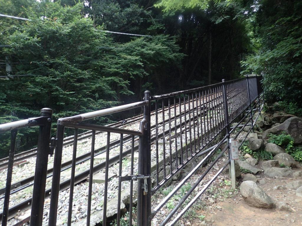 筑波山ケーブルカーのレール
