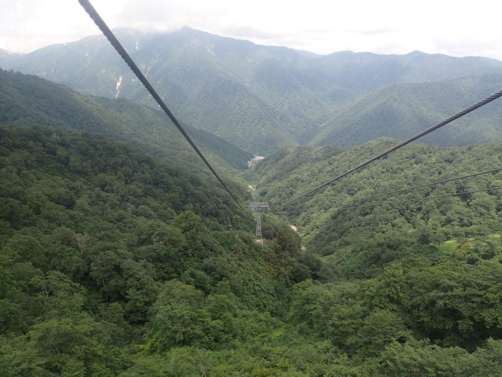 谷川岳ロープウェイからの眺め