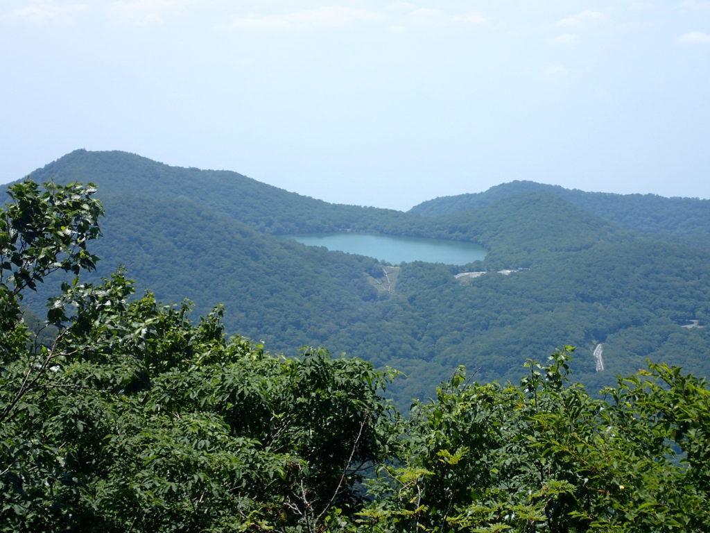 赤城山から眺める小沼