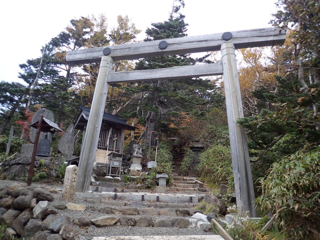 御嶽山の王滝ルートの大江権現