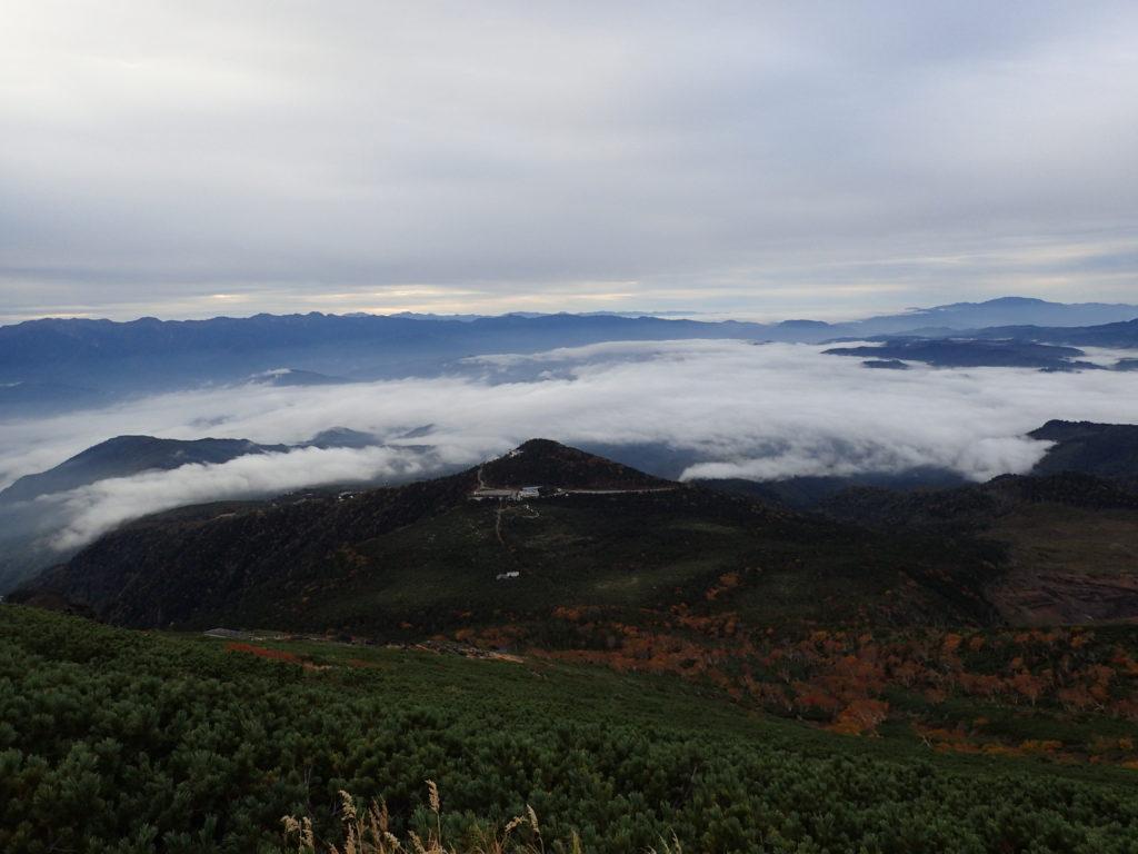 御嶽山の王滝ルートから見る雲海