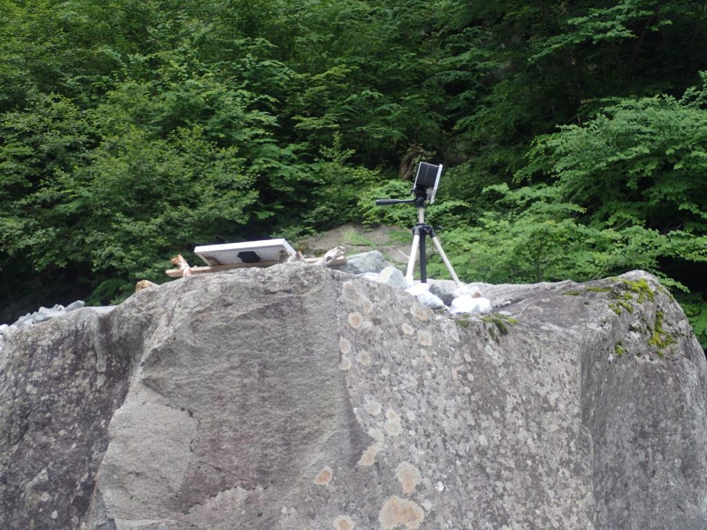 槍ヶ岳の新穂高ルートの滝谷のライブカメラ
