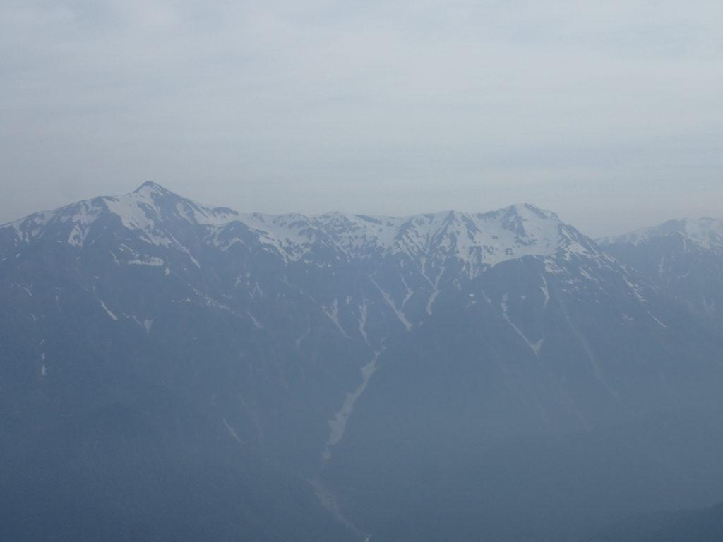 焼岳山頂から眺める笠ヶ岳