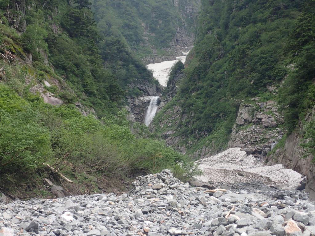槍ヶ岳の新穂高ルートの滝谷にある雄滝