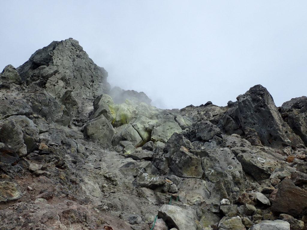 焼岳の噴気孔