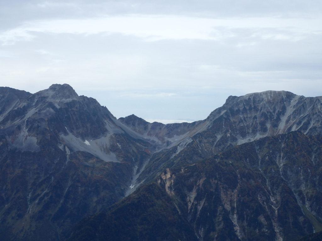 常念岳山頂から見る大キレット